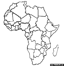 africa map to color 28 images map of africa coloring page az