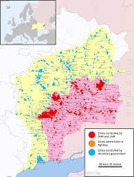 map of war in donbass