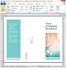 brochure template on word free business tri fold brochure template