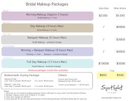 make up prices for wedding professional bridal make up spotlight image