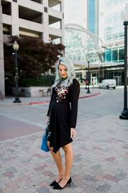 black floral dress wiwt link up the red closet diary