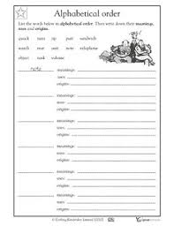 brilliant ideas of alphabetical order worksheets grade 3 on letter