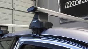 honda crv roof rack installation 2001 2005 honda civic 4 door with thule 480r traverse aeroblade