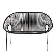 fauteuil en corde fauteuil de jardin rond noir copacabana maisons du monde