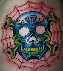 skull spiderweb