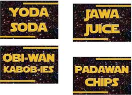 printable star wars food labels star wars party label card instant