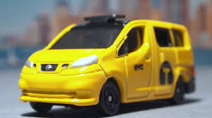 nissan nv200 taxi tomica no 27 nissan nv200 new york city taxi youtube