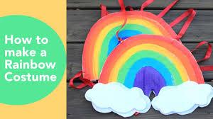 diy costume how to make a rainbow costume cardboard costume