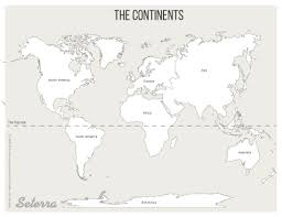 map of continents world continents printables map quiz