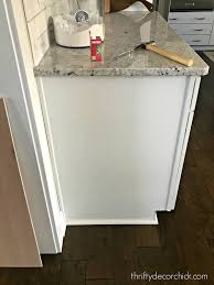 how to replace kitchen end panels how to upgrade the end of your builder grade cabinets from