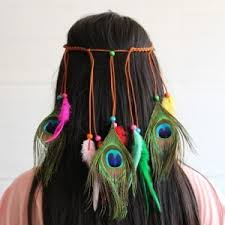 hair feather colorful peacock hair with feather headdress indian feather tops