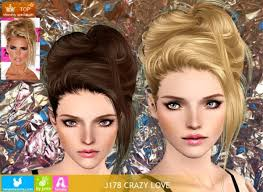 sims 3 hair custom content newsea sims3 j178 crazy love hair by newsea sims 3 pay sims 3
