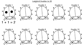 ladybird doubles to 10 worksheet ks1 primary teacher toolbox