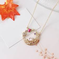 25th anniversary charm anime sailor moon 25th anniversary neptune metal pendant necklace