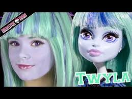 monster high twyla doll costume makeup tutorial for or cosplay kittiesmama videos
