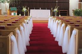 terrific decorations for pews for a church wedding 53 in wedding
