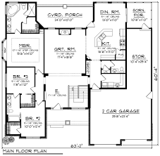 ranch style house plan 3 beds 2 5 baths 2129 sq ft plan 70 1167