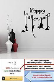 online store happy halloween wall decals bat broom hat vinyl