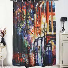 online get cheap curtain city aliexpress com alibaba group 150x180cm 3d scenery fabric bathroom bathtub shower curtain shelter city night lights buildings waterproof china