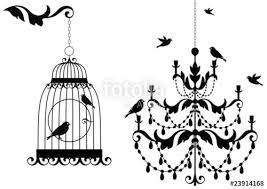 Free Chandelier Clip Art Antique Birdcage And Chandelier With Birds Vector