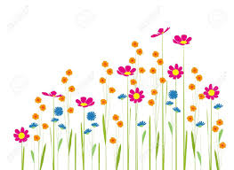 flowers in the garden on a white background royalty free cliparts