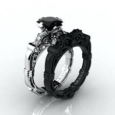 black rings women images Black wedding rings women s her black wedding bands womens jpg