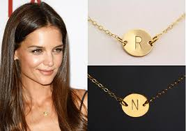 Monogram Pendant Necklace With Initials Aliexpress Com Buy Sale 10 Charm Necklace Personalized Gold