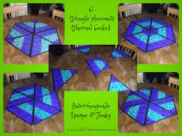 unique triangle placemats perfect for round dining room tables