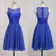 royal blue chiffon bridesmaid dresses 2016 country style royal blue lace and chiffon a line bridesmaid