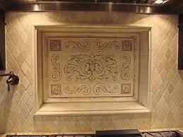 kitchen backsplash using floral tile scrolls medallions tile