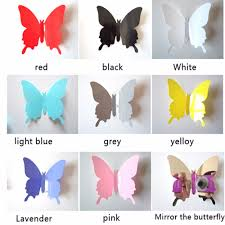 online get cheap wall sticker butterfly 3d aliexpress com hot wholesale free shipping 12 pcs 3d wall stickers butterfly fridge magnet wedding decoration home decor
