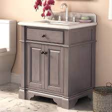 bathroom design white countertop grey single rustic bathroom