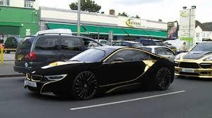 Bmw I8 Black And Blue - velvet gold bmw i8 u0026 gold porsche cayenne 4 8 hamann youtube