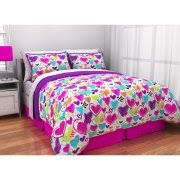 Owl Bedding For Girls by Mainstays Kids Owl Stripe Bedding Bed In A Bag Walmart Com