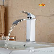 Discount Vessel Faucets Cheap Waterfall Bathroom Vessel Sink Faucet Free Shipping