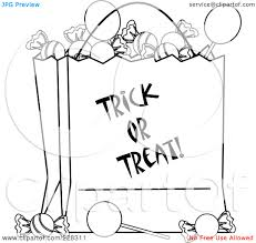 halloween candy coloring page trick or treat candy halloween