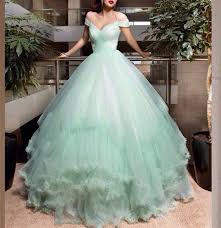 Mint Green Wedding Mint Green Wedding Dress Tulle Wedding Dress Elegant Wedding