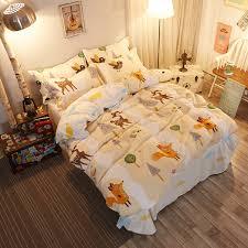soft bed sheets 2017 new bedding sets soft bed sheets jungle deer fox quilt