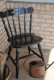 How To Paint Wooden Chairs by Vinyl And Spray Paint Wood Chair Makeover Silhouette