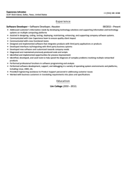 Software Developer Resumes Software Developer Resume Sample Velvet Jobs