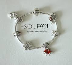 soufeel jewelry 925 sterling silver christmas charm bracelet the