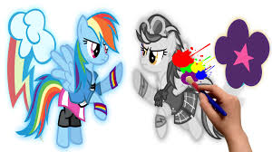 my little pony rainbow dash vs indigo zap mlp coloring pages