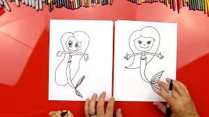 draw mermaid art kids hub