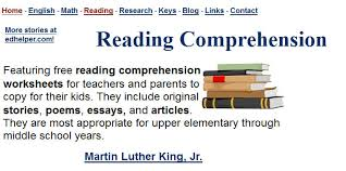 free reading comprehension worksheets