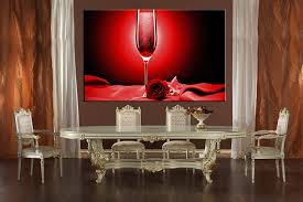 Wine Glass Wall Decor 1 Piece Red Huge Canvas Art Rose Wine Decor