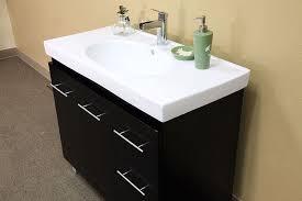 bellaterra home 203129 bathroom vanity white ceramic black finish