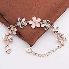 fashion jewelry charm bracelet images Yutii fashion jewellery rose gold crystal charm bracelet gifts for jpg