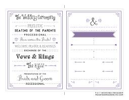 easy wedding program template sided wedding invitations templates wedding invitation ideas