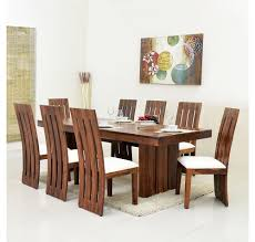 buy delmonte 8 seater dining kit home nilkamal walnut online