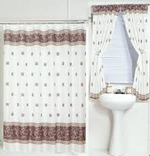 Small Bathroom Window Curtains by Carnation Home Fashions Inc Fabric Shower Curtains